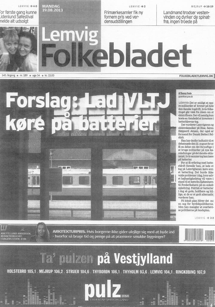 Folkebladet's frontpage