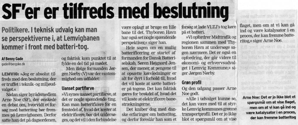 Article from Berlingske Tidende