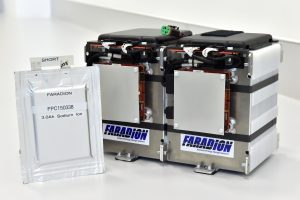 14.5.15 - Grove. The sodium-ion batteries which power the world's first sodium-ion vehicle, developed by Faradion in conjunction with Williams Advanced Engineering and the University of Oxford, part funded by Innovate UK. Photo: Professional Images/@ProfImages