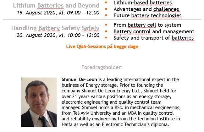2020.08.19-20 Webinar: Lithium batterier og sikkerhed
